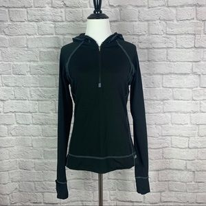 Alo Yoga 1/4 Pullover Hoodie Jacket Small Black